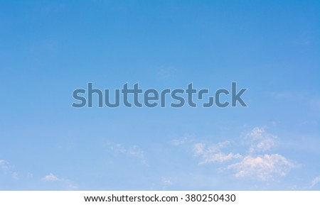 image of clear blue sky and white clouds on day time for background usage. - stock photo