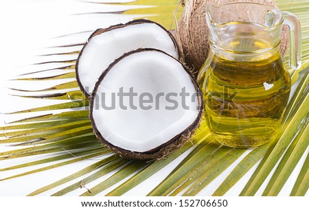 image of Coconut oil for alternative therapy - stock photo