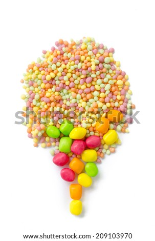 Image of colorful and tasty candies - stock photo