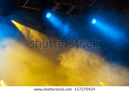 Image of colorful concert lighting, concert light show