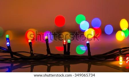 image of colorful LED Christmas Lights - stock photo
