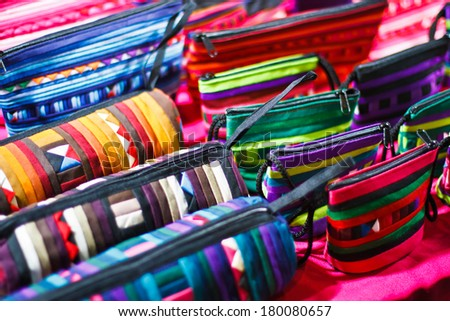 image of Colorful Textile Background,Pile of bright folded clothes