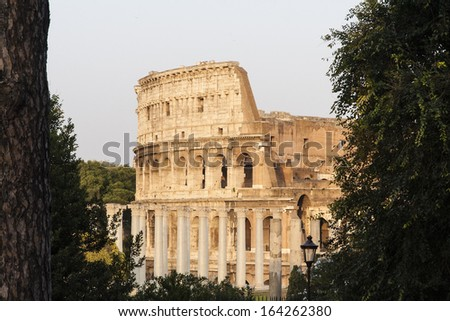 Image of Colosseum in Rome, Italy