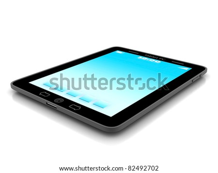 Image of computer technology on a white background isolated - stock photo