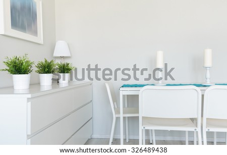Image of contemporarily prepared table in dinning room