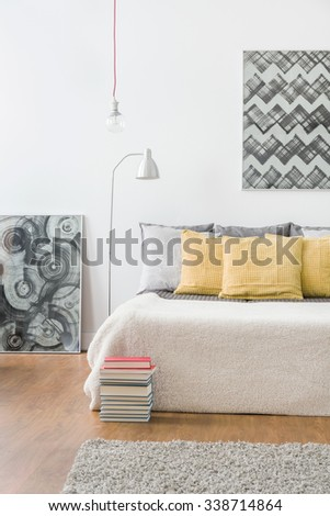 Image of cozy domestic area for relax