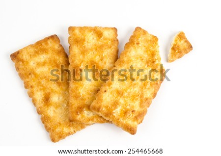 Image of cracker on white background