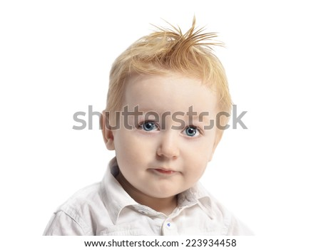 Image of cute baby boy - stock photo