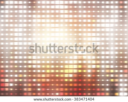 Image of defocused gold stadium lights.