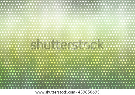 Image of defocused stadium lights.  Abstract green background.