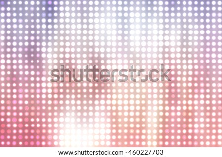 Image of defocused stadium lights.  Abstract vintage background.
