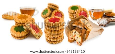 image of delicious cookies closeup - stock photo