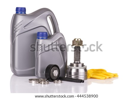 Image of dIfferent car parts, isolated on white - stock photo