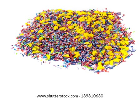 image of different colored candy