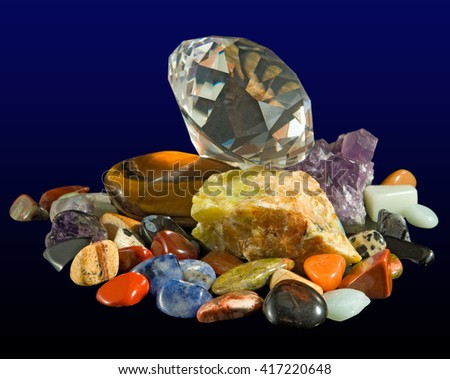 image of different stones close up - stock photo