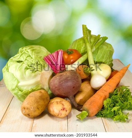 image of different vegetables on the table