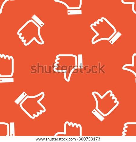 Image Dislike Symbol Repeated On Orange Stock Illustration 300753173