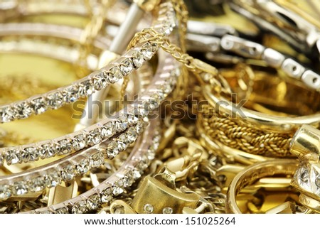 image of elegant jewelry closeup - stock photo