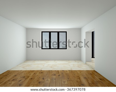 Image of empty interior 3D rendering - stock photo