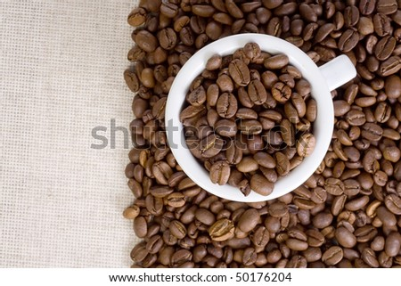 image of fabric and coffee beans