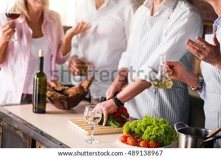 Image of family cooking healthy food together