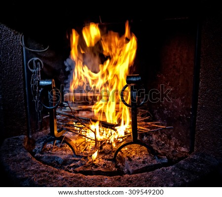 image of fire and wood
