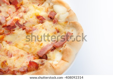 Image of fresh italian pizza in thailand