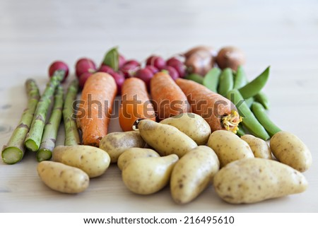 Image of fresh organic garden vegetables.