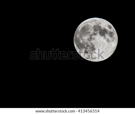 Image of full moon with visible surface