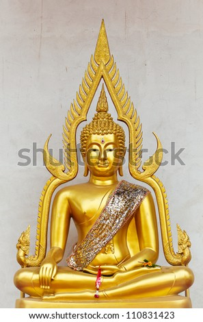 Image of golden buddha sculture