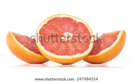 Image of grapefruit isolated close up.