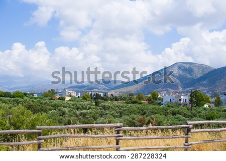 Image of Greece, landscape  view from above - stock photo