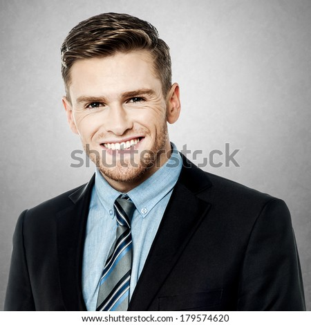Image of handsome young businessman - stock photo