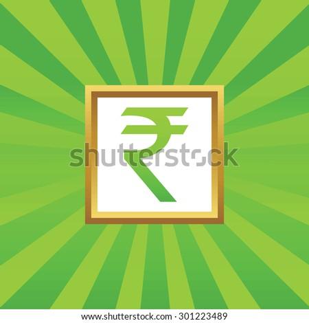 Image Indian Rupee Symbol Golden Frame Stock Illustration 301223489