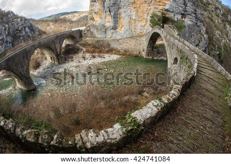Image of Kokoris stone bridge, Zagorohoria, Greece