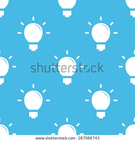 Image of light bulb, repeated on blue background