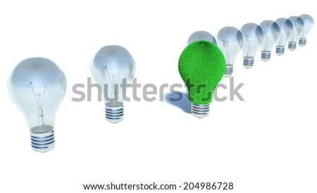 image of light bulb, sustainable energy concept