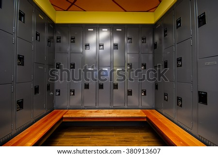 Image of locker room in school