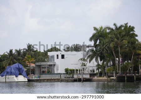 Image of luxury mansions on the water