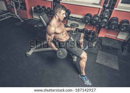 Image of man who is trying to concentrate while working out