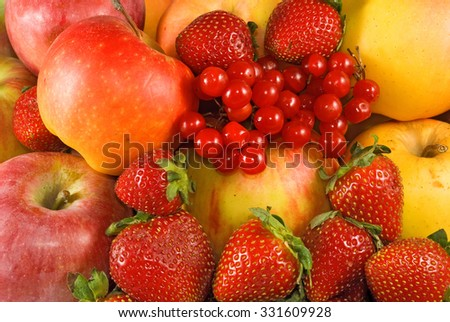 image of many fruits closeup - stock photo