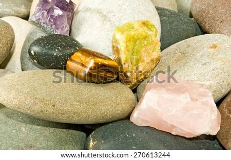 image of many stones - stock photo