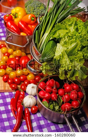 Image of many tasty vegetables