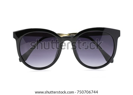 Image of modern fashionable sunglasses isolated on white background, Glasses.