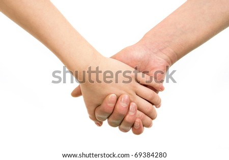 Image of mom?s hand holding the one of her child