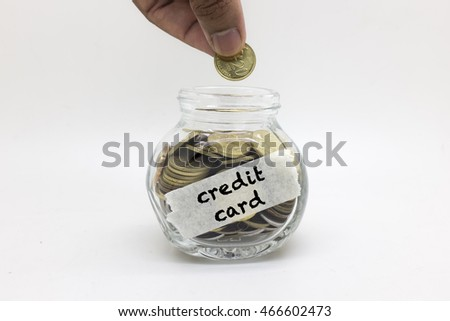 image of money saving for credit card payment