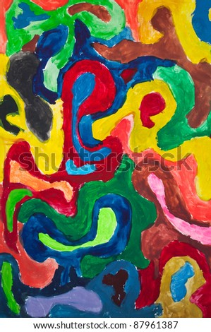 Image of multicolored painting - stock photo