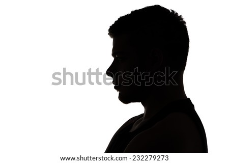 Silhouette Man Head Profile