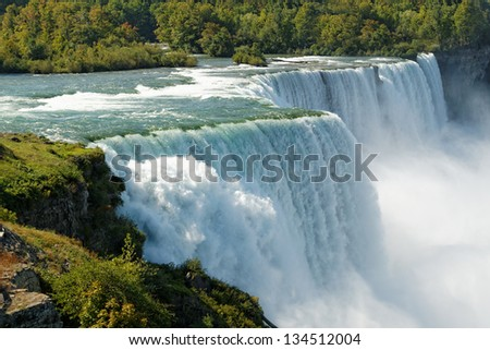 Image of Niagara Falls by day - stock photo