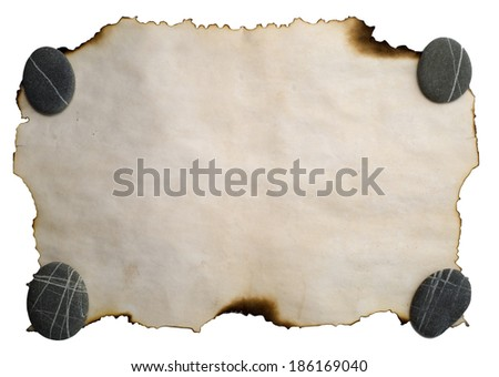 image of old burnt paper fpr background  - stock photo